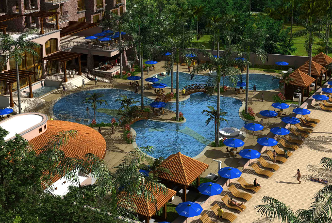 Exclusive Two Bedroom Resort Real Estate at Croc's Casino on Jaco Beach