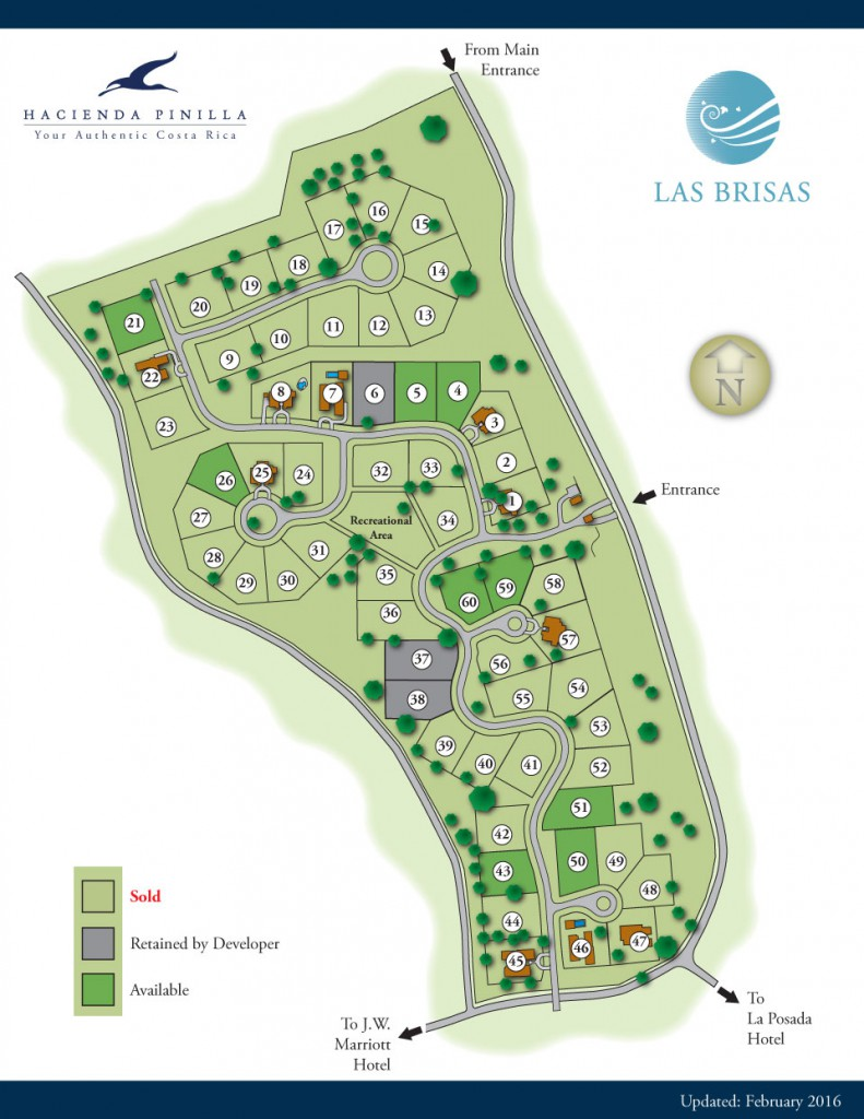 las brisas homesites at hacienda pinilla