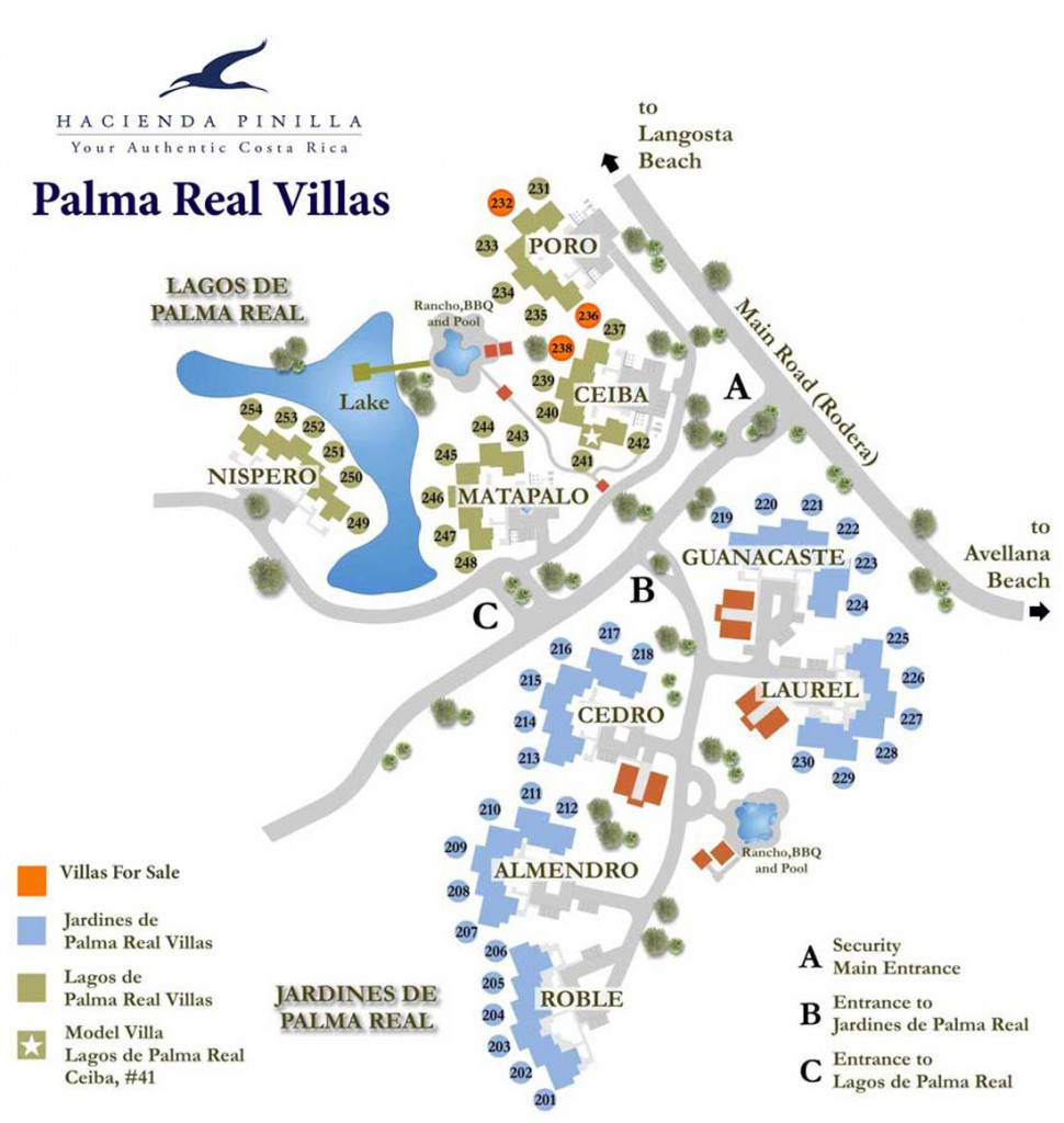 palma real map at hacienda pinilla