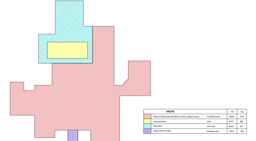 floor plan of custom home in hacienda pinilla