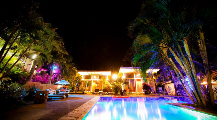 night pool at costa rica hotel for sale