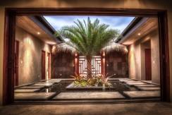 courtyard of designer home in hacienda pinilla