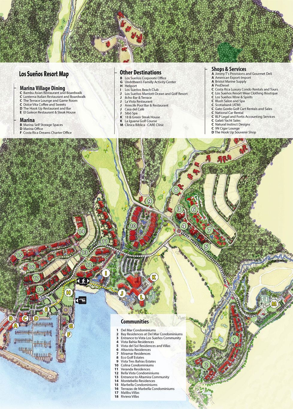 Los Suenos Resort Amp Marina Map Costa Rica Real Estate