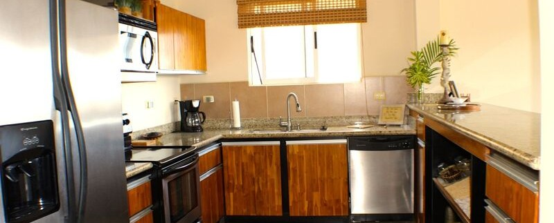 kitchen at flamingo beach condo for sale