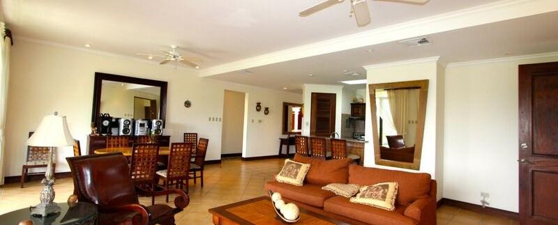 living area of reserva conchal condo for sale
