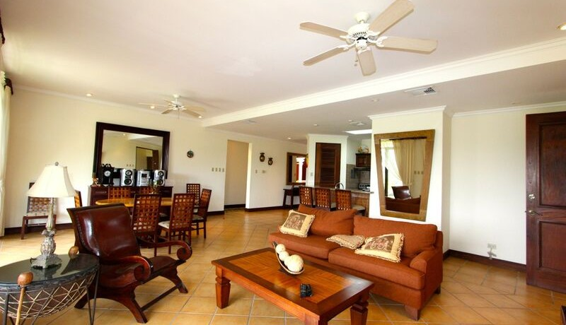 living area of reserva conchal condo for sale