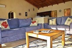 living room of playa grande home in guanacaste