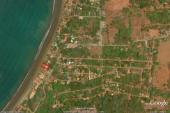 map of beachfront home for sale in costa rica