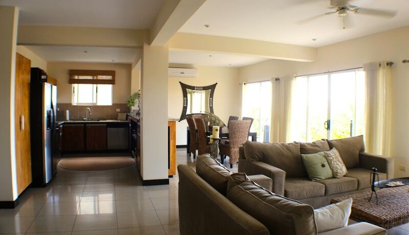 open floor plan of flamingo beach property in costa rica