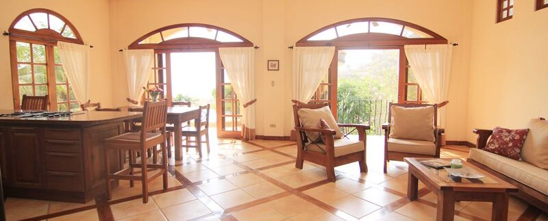 open living dining area of costa rica ocean view condo
