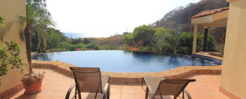 pool view from luxury condo for sale in costa rica