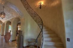 interior stairway casa el tesoro hacienda pinilla