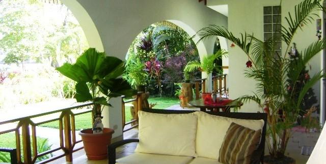 Outdoor living space in Luxury Tambor home