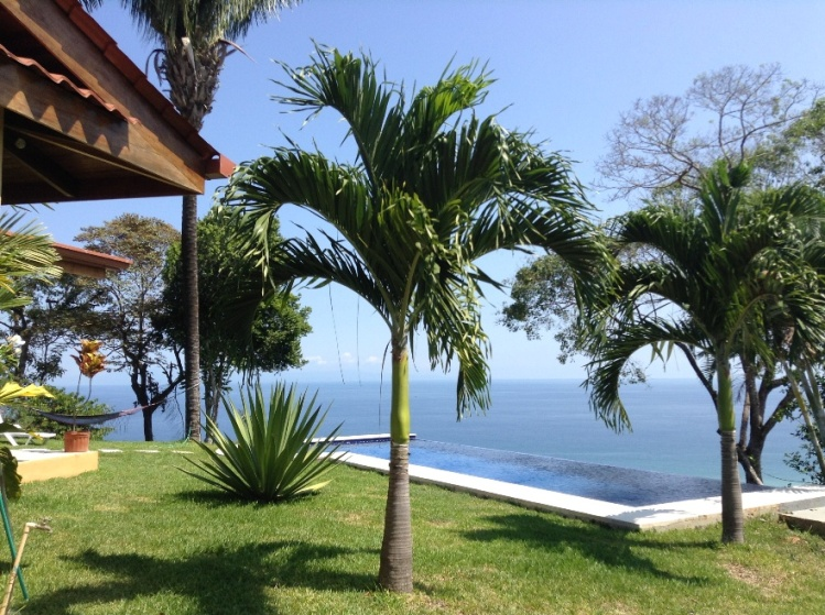 Tranquil Ocean View Estate on 2.5 acres in Montezuma For Sale