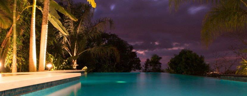 Jewel House Pool at Night