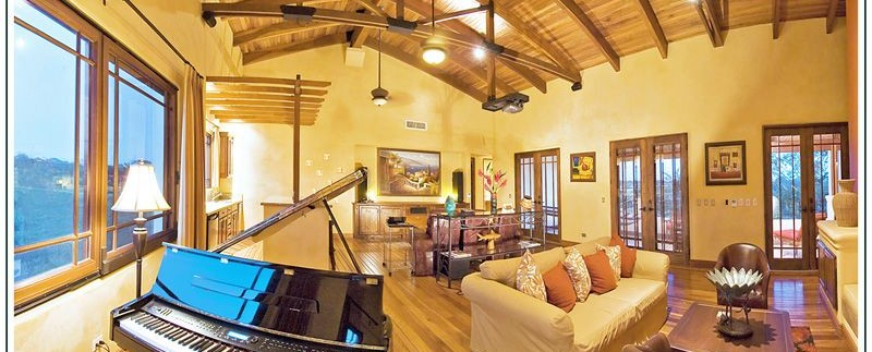 entertainment room at casa orquideas