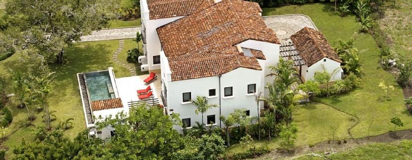 casa orquidea aerial view