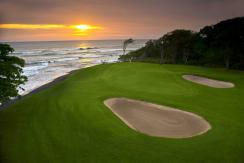 Sunset on Hacienda Pinilla's golf course