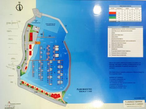 map of the new flamingo marina