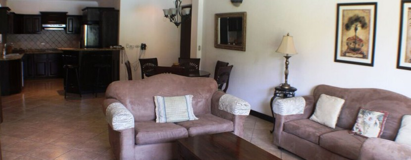 living area at herradura condo