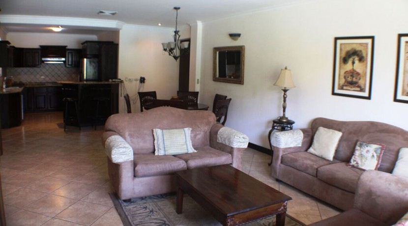 living area at herradura condo