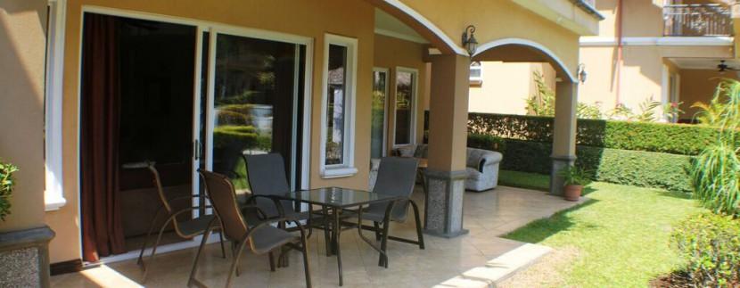 back patio of herradura condo