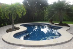 Private Pool with Skid free Tile Decking