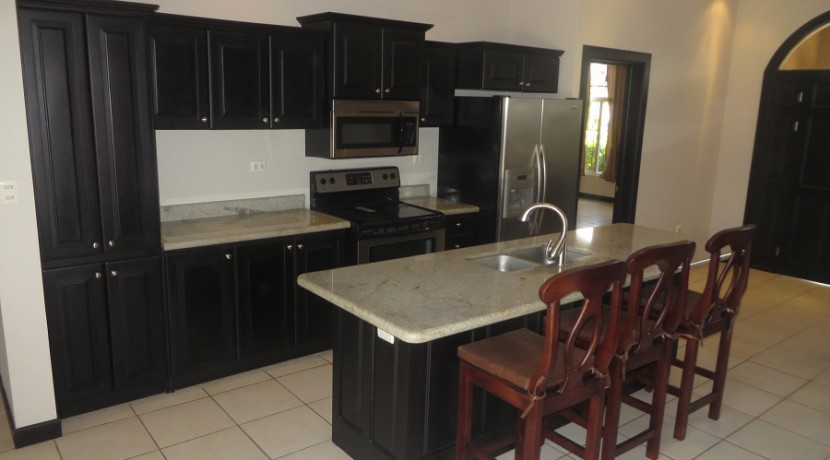 Granite kitchen counters with island