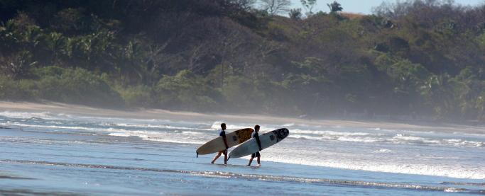 Surfing in Nosara Costa Rica