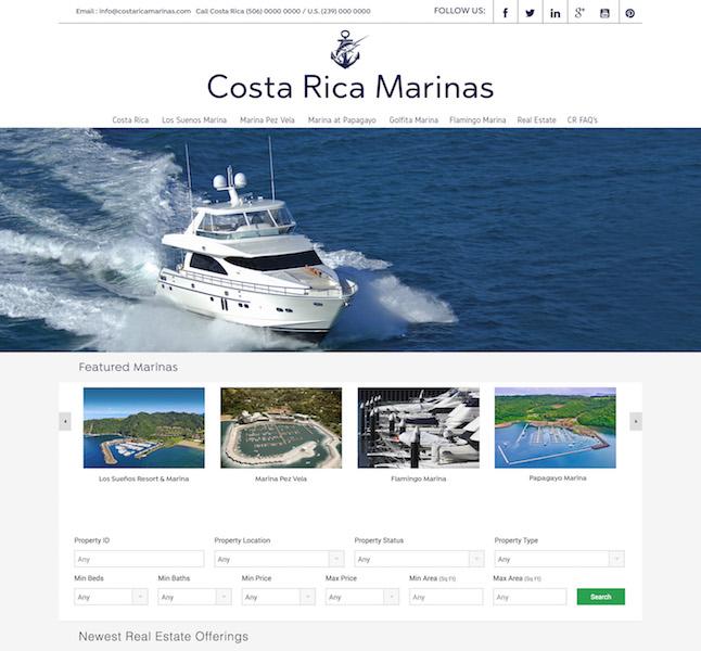costa rica marina website