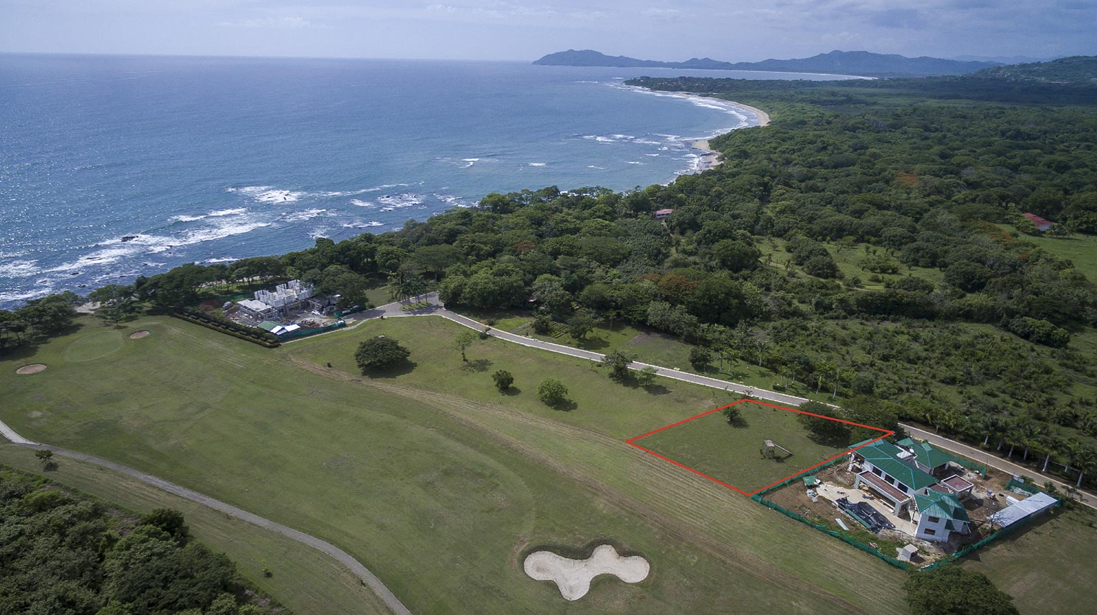 Ocean View and Golf Front Building Lot on Guanacaste Walking Distance to the Beach