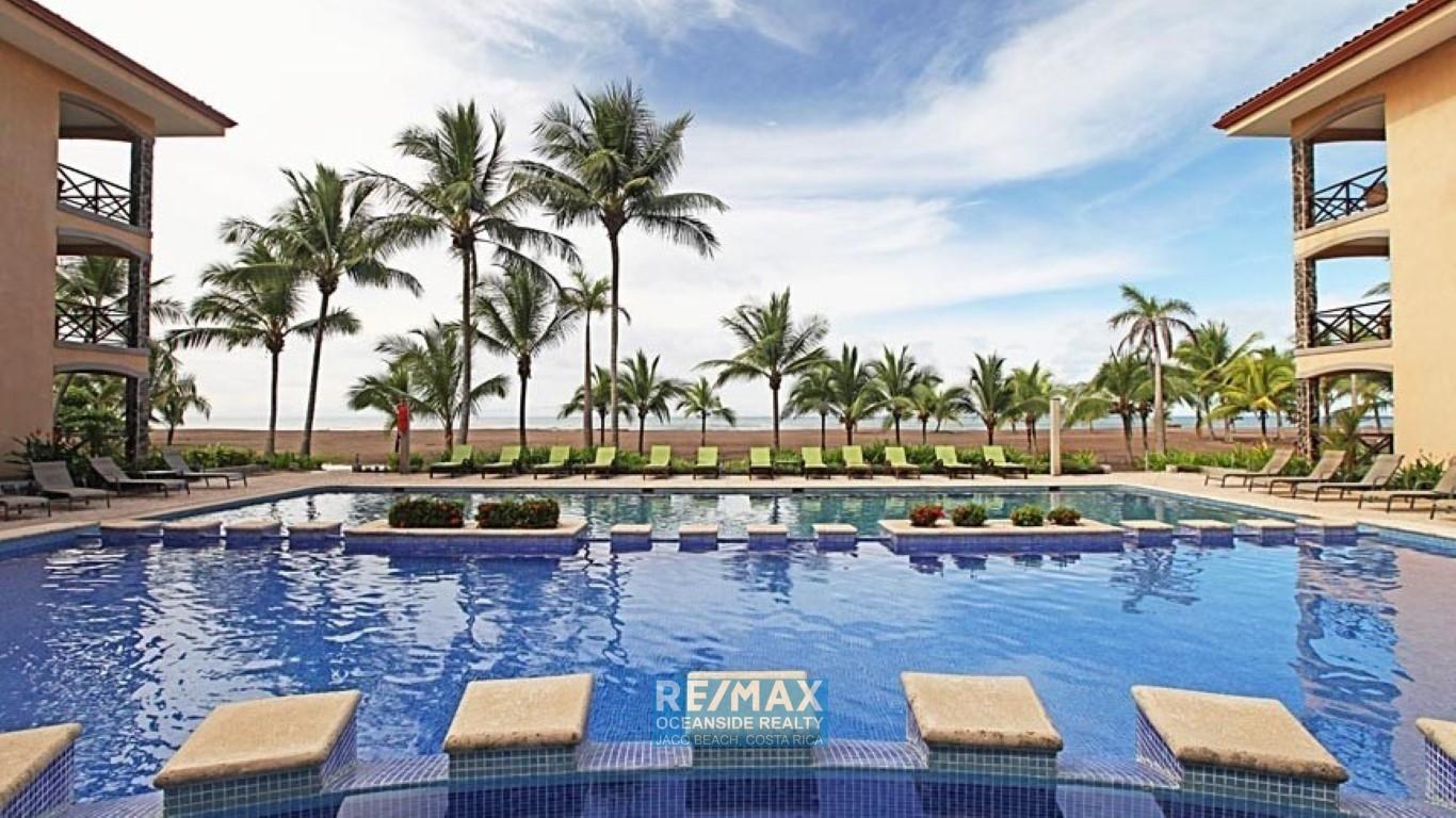 Ocean View 3 bedroom condo Bahia Encantada 2C walking distance to Jaco center.