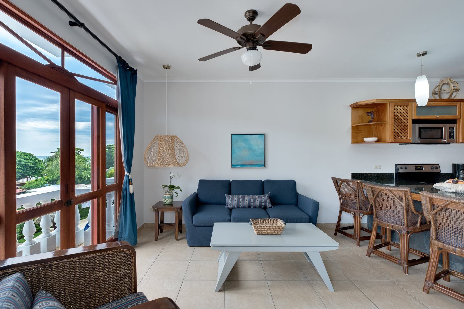 2 Bedroom 2 bathroom Ocean View Condo- Great Location on South End of Jaco Beach- Paloma Blanca
