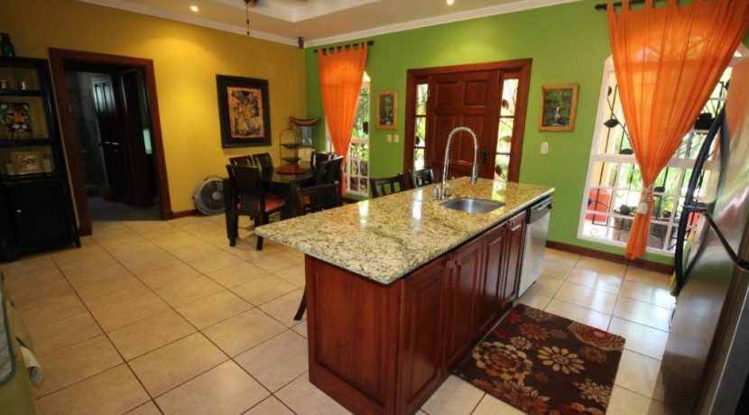 Costa-Rica-Beach-Home-with-kitchen-and-dining-areas