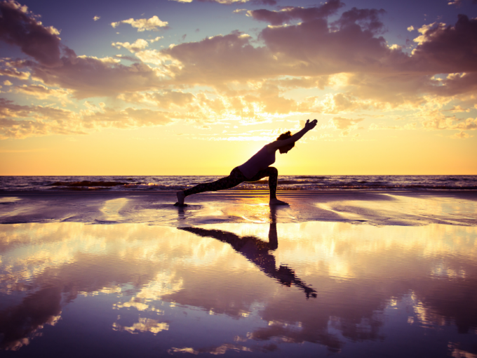 Costa Rica living concept beach yoga